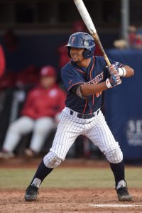 Sahid Valenzuela, a switch hitter, took the lion's share of his at-bats from the left side while facing right handed pitchers in 2017.