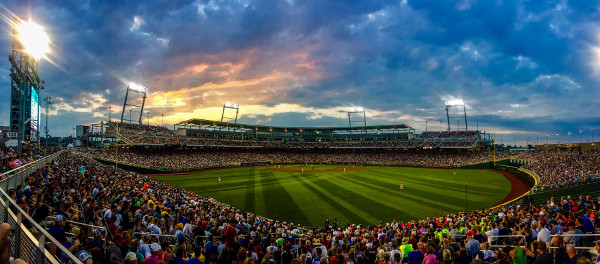 TD Ameritrade Park during the CWS in 2017
