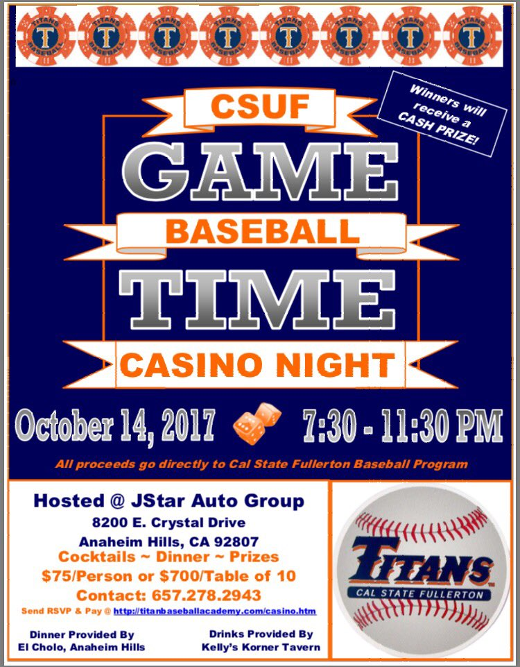 Titan Baseball Casino Night 2017