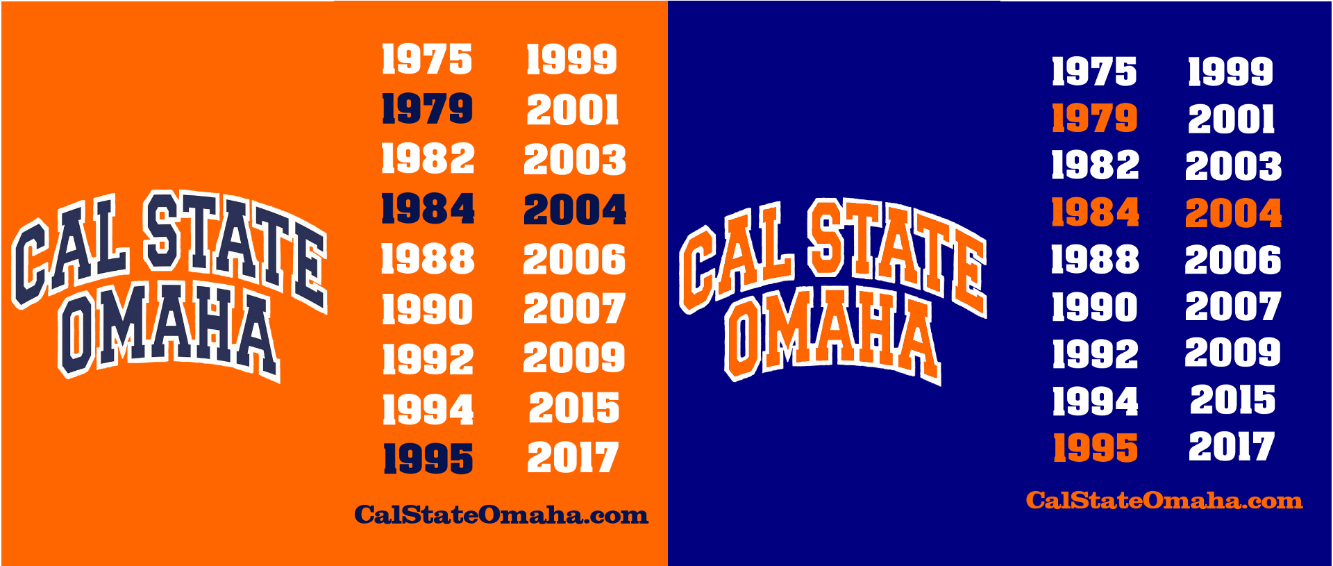 Cal State Omaha shirts 2018 version