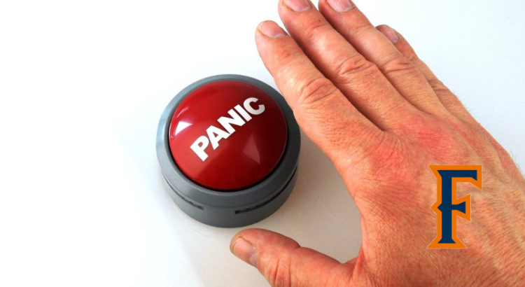 Titan Baseball fans hitting the panic button