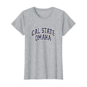 Womens Cal State Omaha heather gray shirt