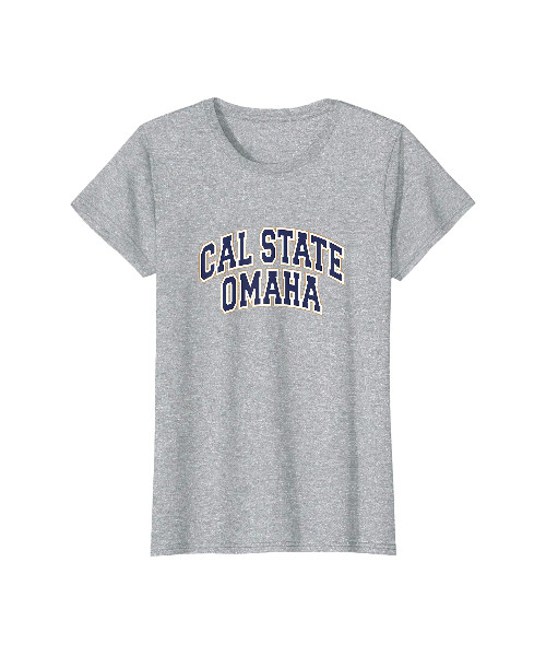 Womens Cal State Omaha heather gray shirt
