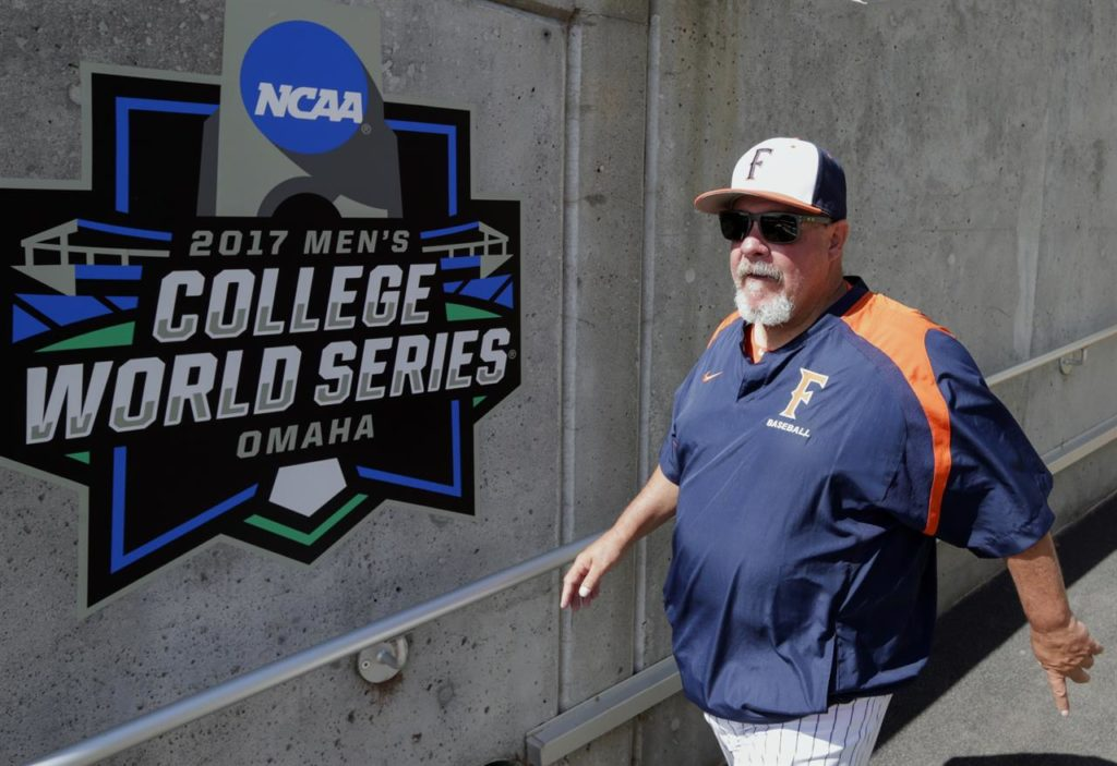 Rick Vanderhook at College World Series