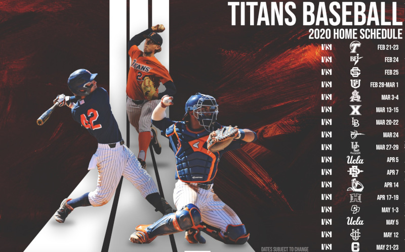 2020 Titan Baseball Home Schedule