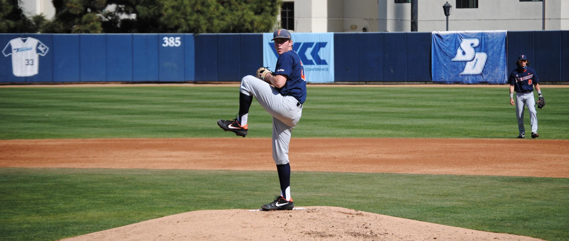 Kyle Luckham pitching vs USD