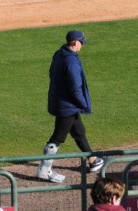 Tanner Bibee walking boot